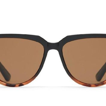 Quay Prime Time Black Tortoise Fade Sunglasses / Brown Lenses