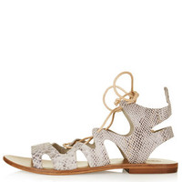 FIG Lace-Up Sandals - Multi