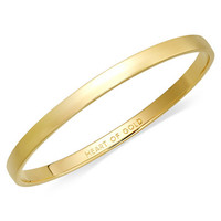 kate spade new york Bracelet, 12k Gold-Plated Heart of Gold Idiom Bangle Bracelet - Jewelry & Watches - Macy's