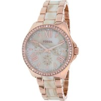 Fossil Women's Cecile AM4616 Rose Gold Stainless-Steel Quartz Watch - Walmart.com