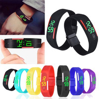 New Fashion LED Bracelet Digital Watches For Men&Ladies&Child Clock Womens Rubber Sports Wristwatch relogios Clock Hours