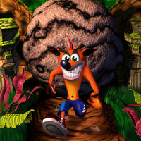 Crash Bandicoot video game poster
