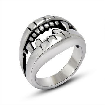 Shiny New Arrival Gift Stylish Jewelry Titanium Club Men A4 Size Ring [6526809539]