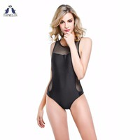 High Neck one piece swimsuit Sheer Cutouts