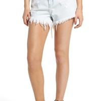 Show Me Your Mumu Wyoming High Waist Cutoff Denim Shorts (Whitewater) | Nordstrom
