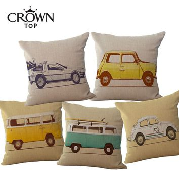 "18"" Vintage Transportation Cushion Covers"