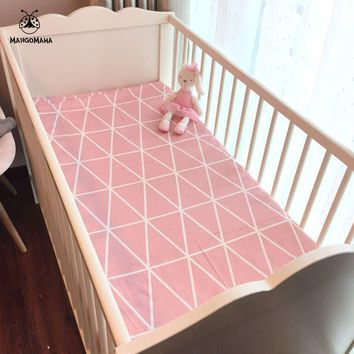 (Fitted sheet 1pcs) Baby bed mattress cover 1pcs 100% cotton baby bed sheet for baby girl boys 130x70cm 120x60cm crib