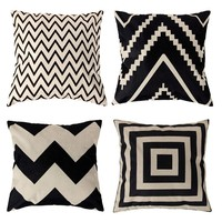Vintage Fashion Pillowcases for Throw Pillows