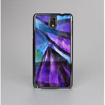The Grunge Dark Blue Painted Overlay Skin-Sert Case for the Samsung Galaxy Note 3