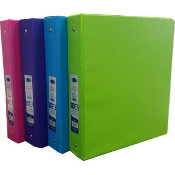 "1.5"" 3-Ring Vinyl Binder - 4 Neon Colors"