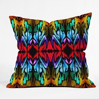 Holly Sharpe Parrot Patterns Outdoor Throw Pillow