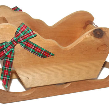 Christmas Sale Large Vintage Christmas Sleigh,Holiday Home Decor