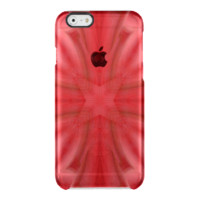 Red abstract wood Pattern Uncommon Clearly™ Deflector iPhone 6 Case