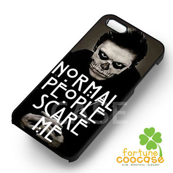 normal people scare me evan peters-ny for iPhone 6S case, iPhone 5s case, iPhone 6 case, iPhone 4S, Samsung S6 Edge