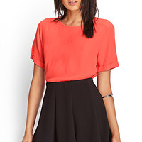 FOREVER 21 Boxy Crepe Woven Top