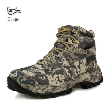 Men Outdoor Waterproof Hiking Shoes Boots Military Tactical Desert Combat Ankle Boots SWAT Army Boots Camouflage Shoes