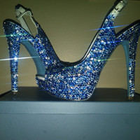 Something Blue Swarovski Crystal Shoe