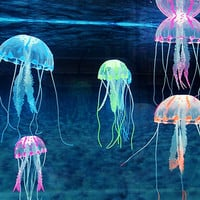 Beautiful Aquarium Decorative Glowing Effect Simulation Jellyfish Fish Tank Ornament = 1946453956