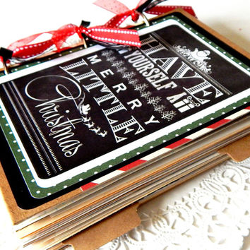 Christmas Junk Journal. Handmade Journal. Writing Journal. December Daily. Christmas Planner. Holiday Planner. Notebook Organizer. Diary.