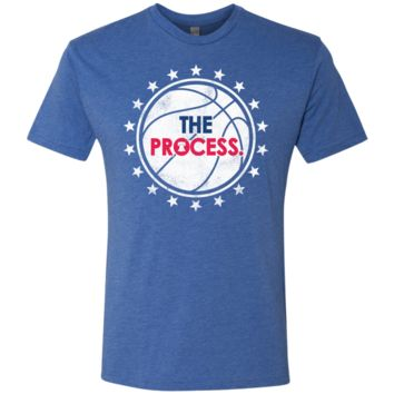 Philly Hoops Inspired The Process Men's Triblend T-Shirt