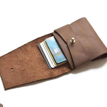 brown leather credit card holder, business card case, card sleeves, mens wallet slim, womens wallet leather, personalized gifts, LT528