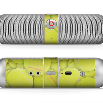 The Tennis Ball Overlay Skin for the Beats by Dre Pill Bluetooth Speaker