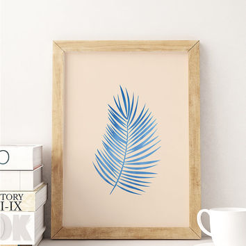 Palm Print, Flower Illustration, Palmleaf Poster, Flower Wall Art, Plant Poster, Floral Decor, Inspirational Print, Beach Wall Decor,
