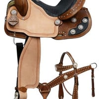 Saddles Tack Horse Supplies - ChickSaddlery.com Double T Barrel Racer Saddle Set With Black Gator Print Seat