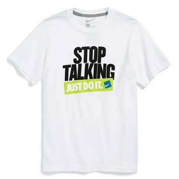 Boy's Nike 'Stop Talking, Just Do It' T-Shirt