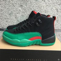Air Jordan 12 Retro Aj 12 Black/green Men Basketball Shoes | Best Deal Online