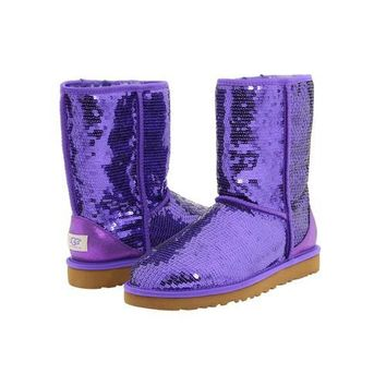 Ugg Boots Black Friday Classic Short Sparkles 3161 Passion Purple For Women 114 45