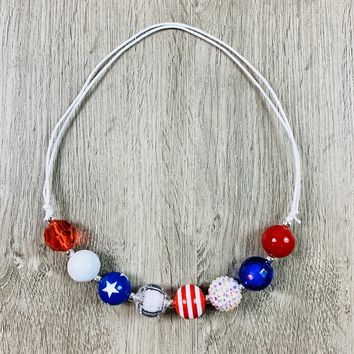 RTS Patriotic Slip-Over Chunky Necklace