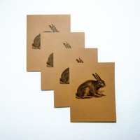 Set of Rabbit Cards | Blank Note Cards | Rabbit Greeting Cards | Rabbit Stationery | Pretty Cards for Rabbit Lovers | All Occassion