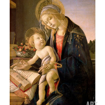 The Virgin Teaching the Infant Jesus to Read Giclee Print by Sandro Botticelli at Art.com