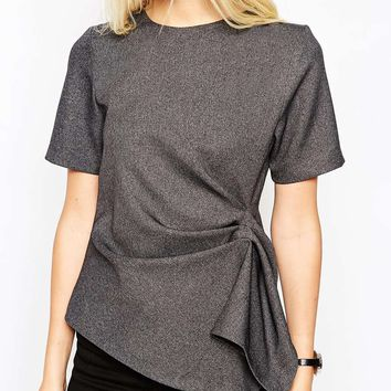 ASOS Premium Origami Structured T-Shirt at asos.com