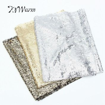30*200cm Sparkly Sequin Fabric Tablecloth Table Runner For Wedding Party Banquet Event Decoration DIY Craft Sewing Materials
