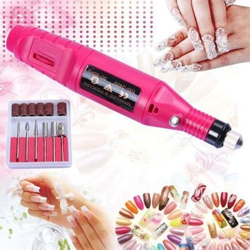 LMF57D Electric Nail Art Salon Manicure Machine Pedicure Drill File Polish Tool Kit