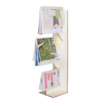 Laser cut wood magazine stand,magazine display,magazine rack,wooden magazine holder,magazine organizer,magazine storage,modern magazine rack
