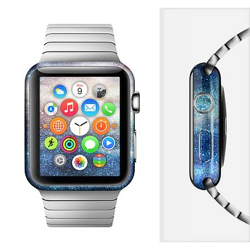 The Blue & Gold Glowing Star-Wave Full-Body Skin Set for the Apple Watch