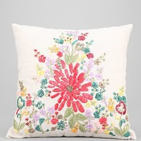 Plum & Bow Floral Raffia Pillow - Urban Outfitters