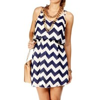 Black/White Chevron 2 Strap Dress