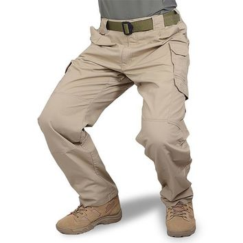 Clothing Men Tactical Pants Army Military Casual Solid Multi pockets Cargo Pants Wear Resistant Male Trousers Rip-stop