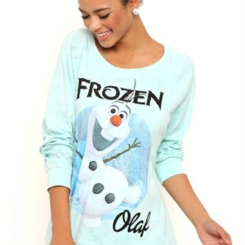 Long Sleeve Reversible Disney Top with Olaf from Frozen