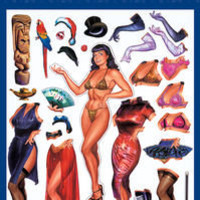 Bettie Page Dress-Up Magnet Set at TFAW.com