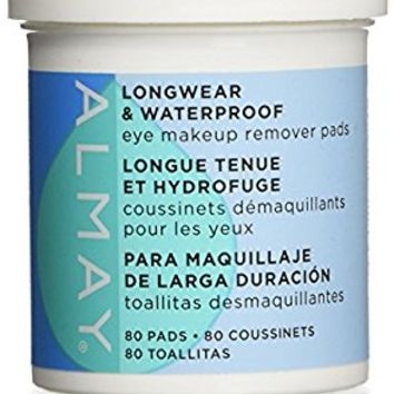 Almay Longwear and Waterproof Eye Makeup Remover Pads, 80 Count