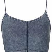 Denim Strappy Bralet - Denim