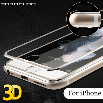 TOBOCLOO For iPhone X 5 5s SE 6 6s 7 8 Plus (Tempered Glass ) Front  3D FULL Protective Premium Screen Protector Case Cover