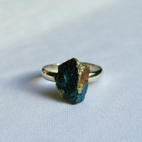 Bornite Peacock Ore Statement Ring