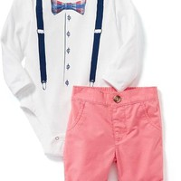 Graphic Bodysuit & Twill Shorts Set for Baby | Old Navy