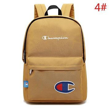 Champion Fashion New Embroidery Logo Letter Women Men Backpack Bag
